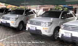 33 kendaraan bantuan mabes polri