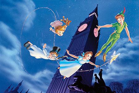 Peter Pan, Peter pans Flight, Peter Pan flying