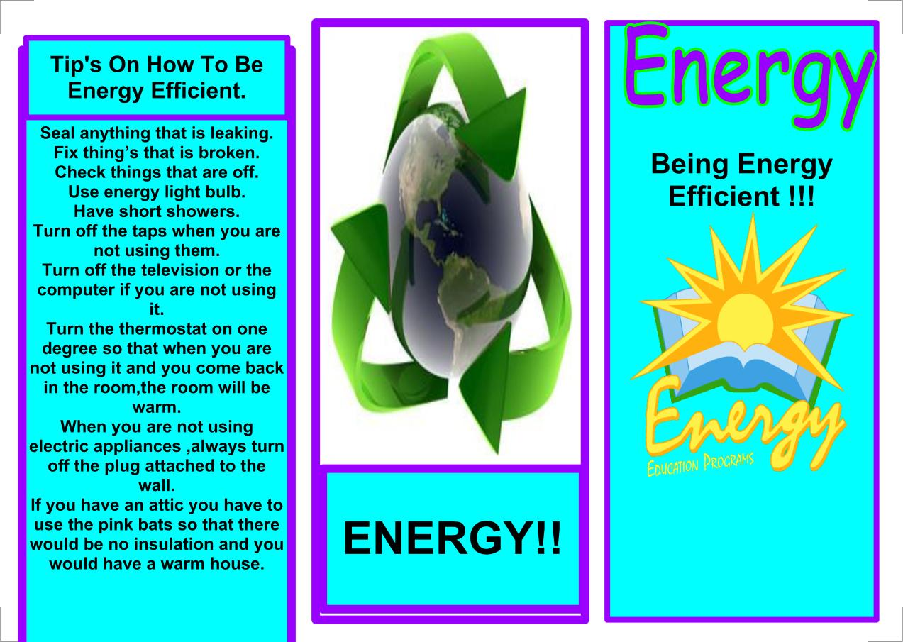 Tiere @ Tamaki Primary School: This is the outside of my Energy ...