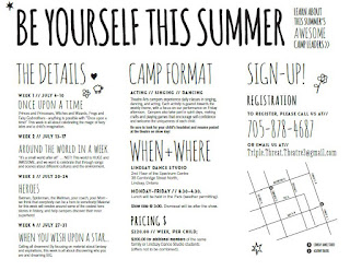 image Kawartha Lakes Summer Camp - Triple Threat Theatre brochure