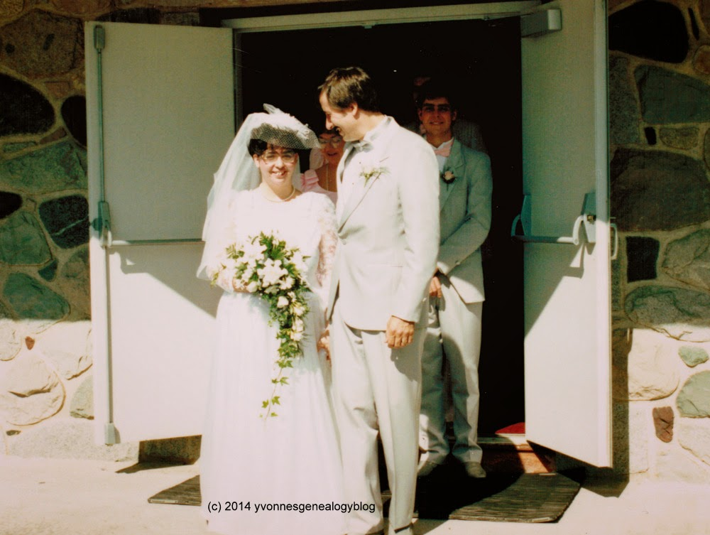 Yvonne and Michael on their wedding day