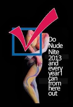 Bucket List # 13 I want to do nude nite 2013