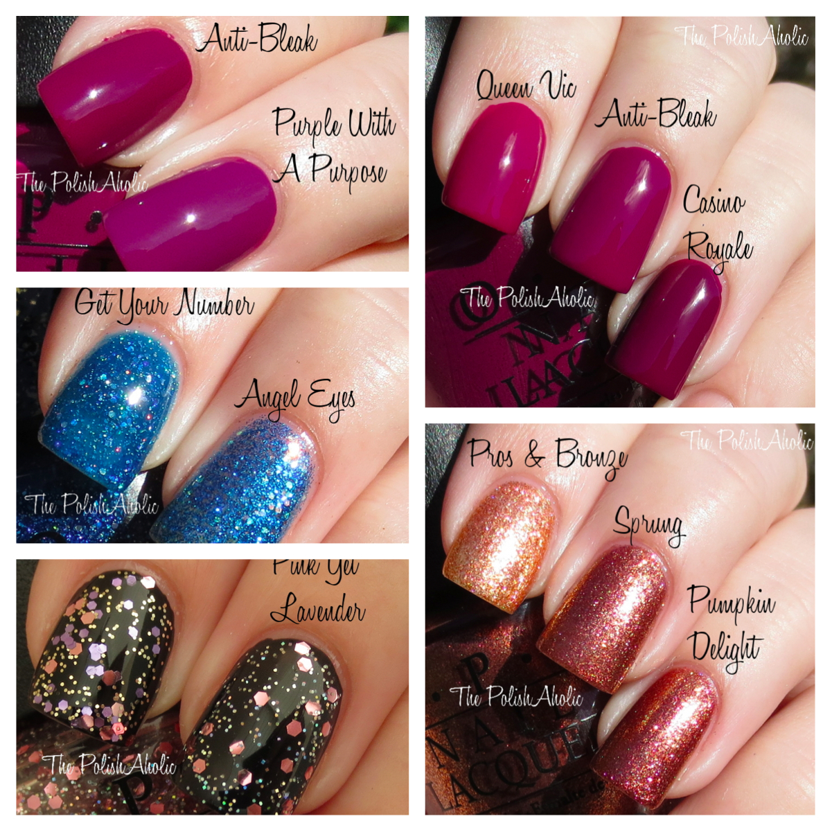 The PolishAholic: OPI Mariah Carey Collection Comparisons