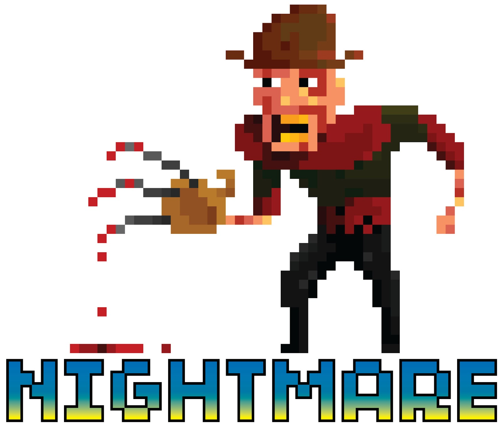 Freddy Krueger, horror, pixel, retro