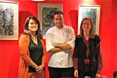 Marta Huidobro, el Chef Julien Guenée yVeronique Deli, Blog Esteban Capdevila