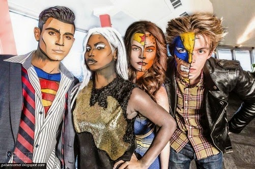 Wanita Ini Mampu Make up Wajah Sama Superhero di Komik
