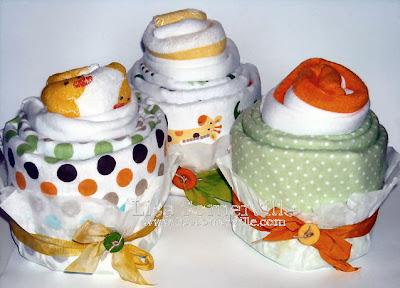 DIY - Baby Shower Gift (Receiving Blanket, Onesie, Washcloth)