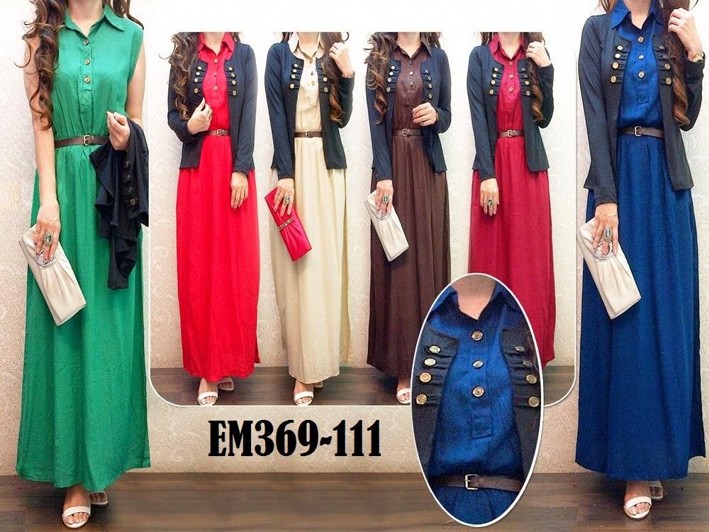 BUSANA 7 DRESS CARDIGAN SET EM369 111