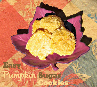 Easy Pumpkin Sugar Cookies! A great and quick treat for any fall get together! | From It's Always Ruetten