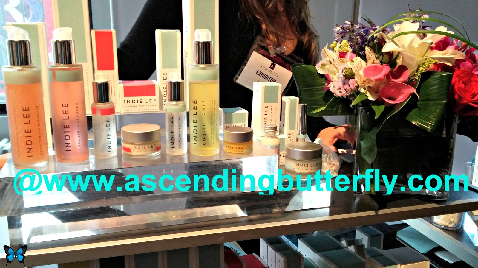 Eco Beauty Brand Indie Lee Products Display at Elements Showcase New York City February 2014