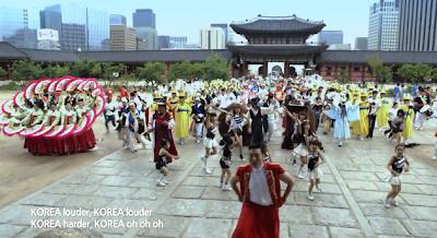 Psy Korea women hanbok fans