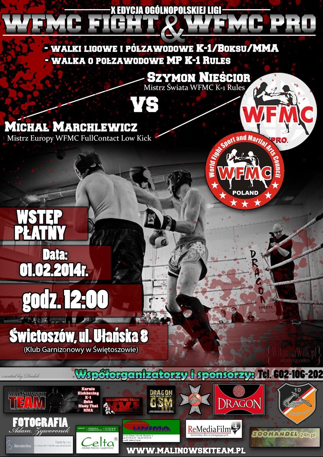 WFMC, Świętoszów, Wojsko Polskie, Klub Garnizonowy, K-1, MMA, boks, turniej, trening, kickboxing,