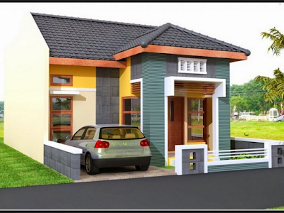 atap miring untuk teras rumah minimalis