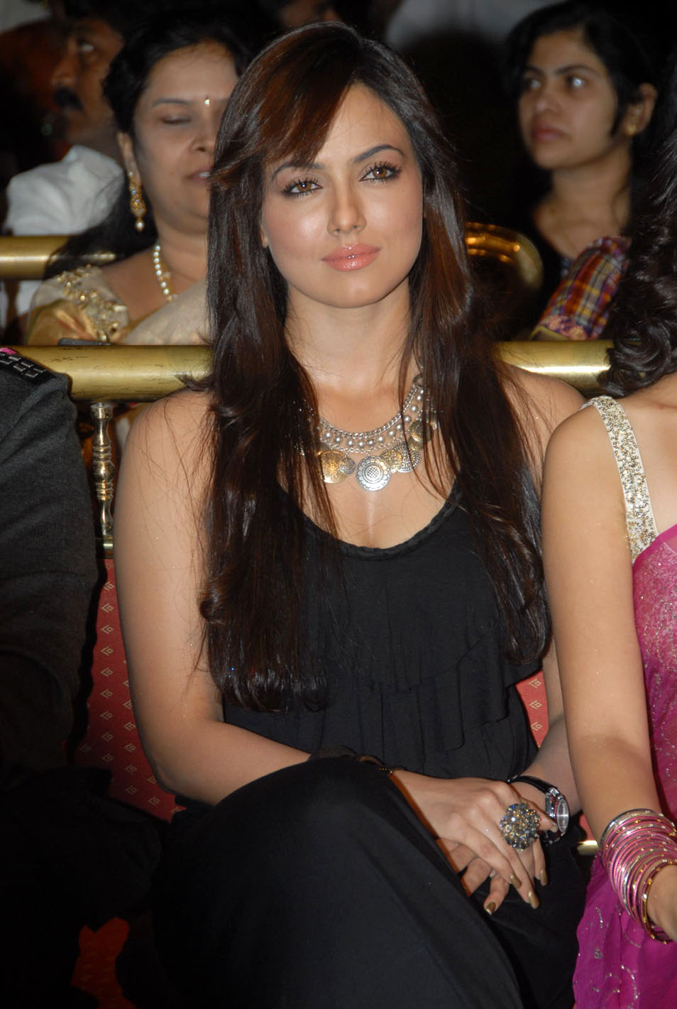 Sana Khan Photos in Black Dress