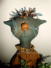 WHIMSICAL  PRIMITIVE KITTY