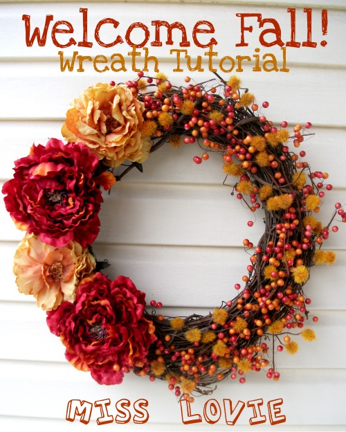 Miss Lovie Welcome Fall Wreath A Tutorial