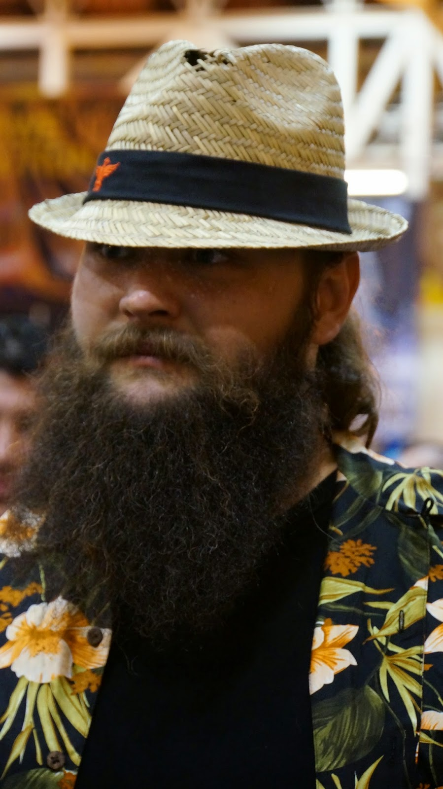 Beard-Fedora-Patterned-Shirt