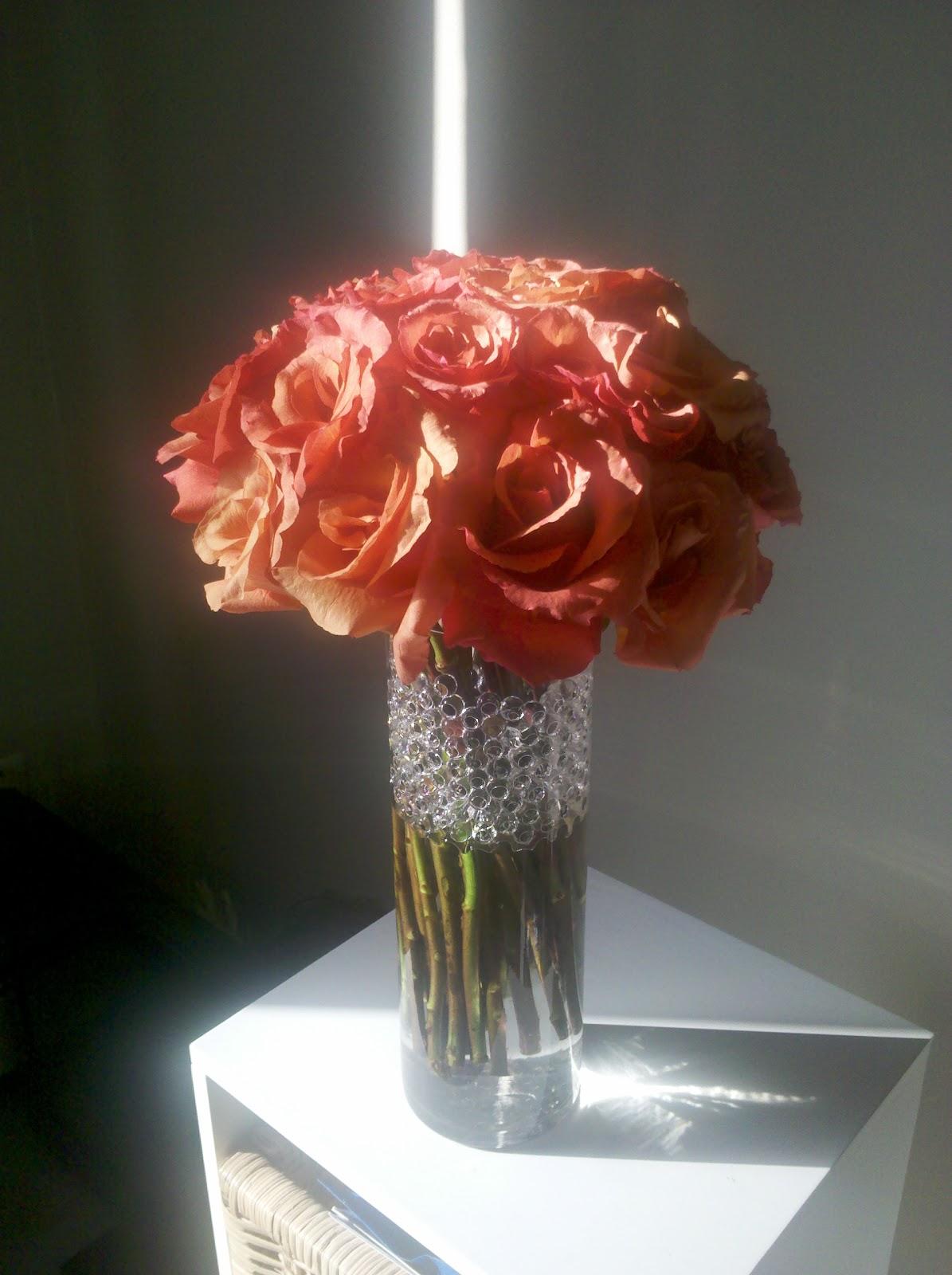 Simply splendid chic simple rose centerpiece