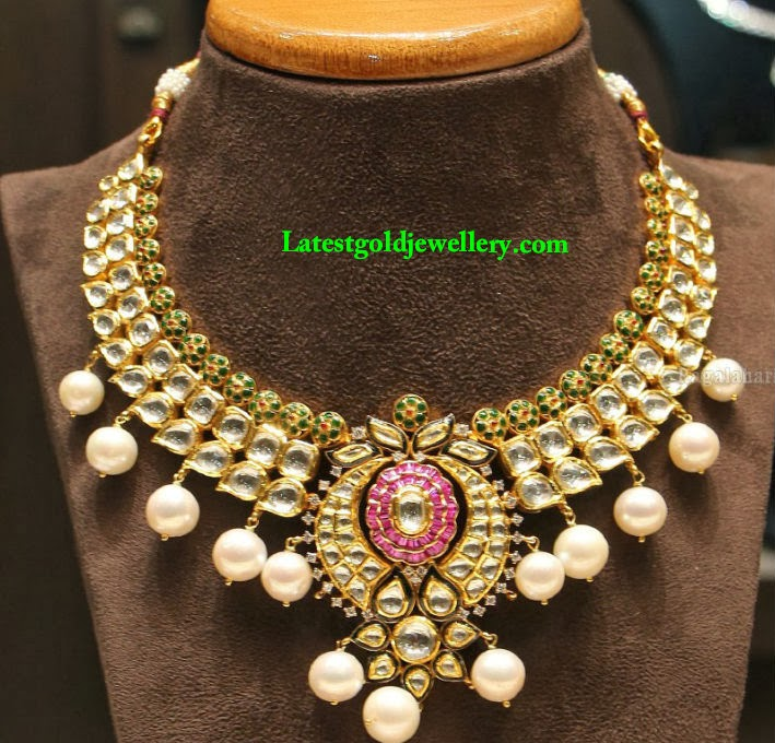 latest pachi work necklace designs