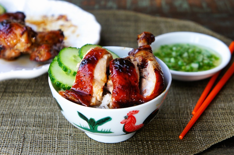 ... : Chinese Roasted Soy Sauce Chicken With Ginger and Scallion Sauce