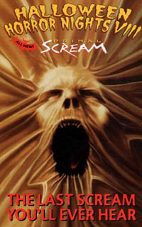 the eighth annual halloween horror nights was labeled primal scream the posters pictured a screaming face with the tagline the last scream youll ever - Halloween Horror Night Theme