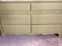 In the works 6 drawer green dresser $175-