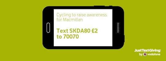 My brother Jonathan did some cycling for Macmillan