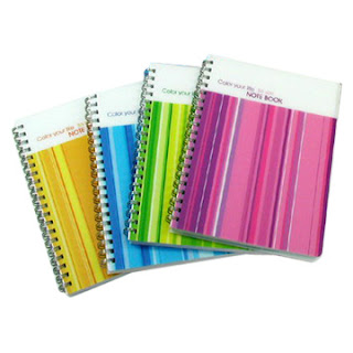 Notebooks in a rainbow of colors, sizes and types! #paper #organizers Ducks' n a Row