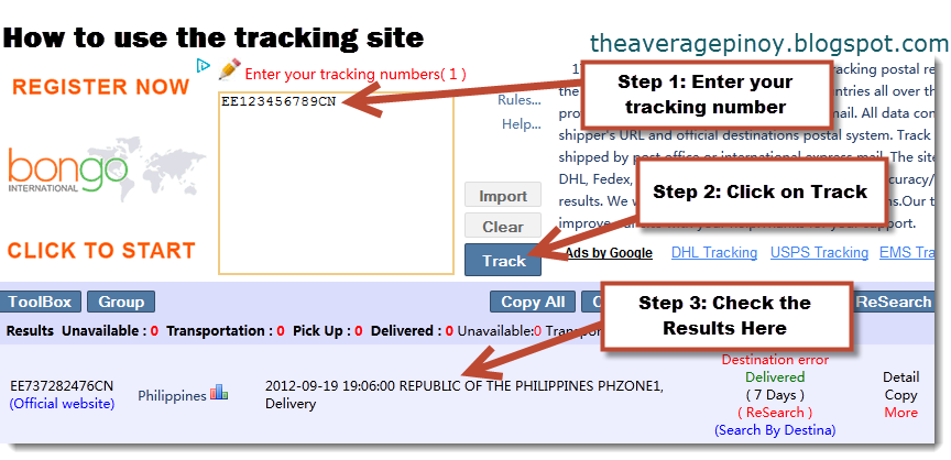 How to track parcel from China? hereyfiletk.gq is a free information service that helps track the parcel from China. You can to enter the tracking number parcel and our shipment tracking system quickly find out where it is now.
