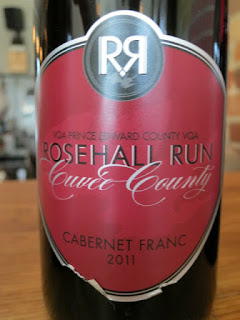 Rosehall Run Cuvée County Cabernet Franc 2011 - VQA Prince Edward County, Ontario, Canada (88+ pts)