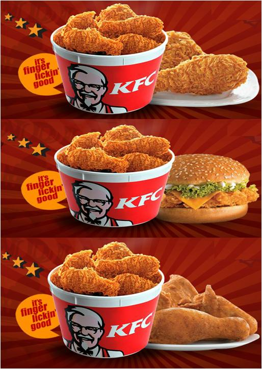 kfc just in time I haven't had kfc in a long time, probably a few years, so the menu looked foreign to me there are a lot of new things, like several types of sandwiches in just the size i like gone is the mini mash bowl, and the regular mash bowl is now called the famous bowl.