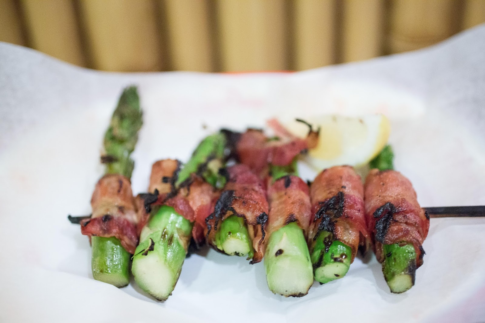 Bangled Barbecue Bacon wrapped Asparagus