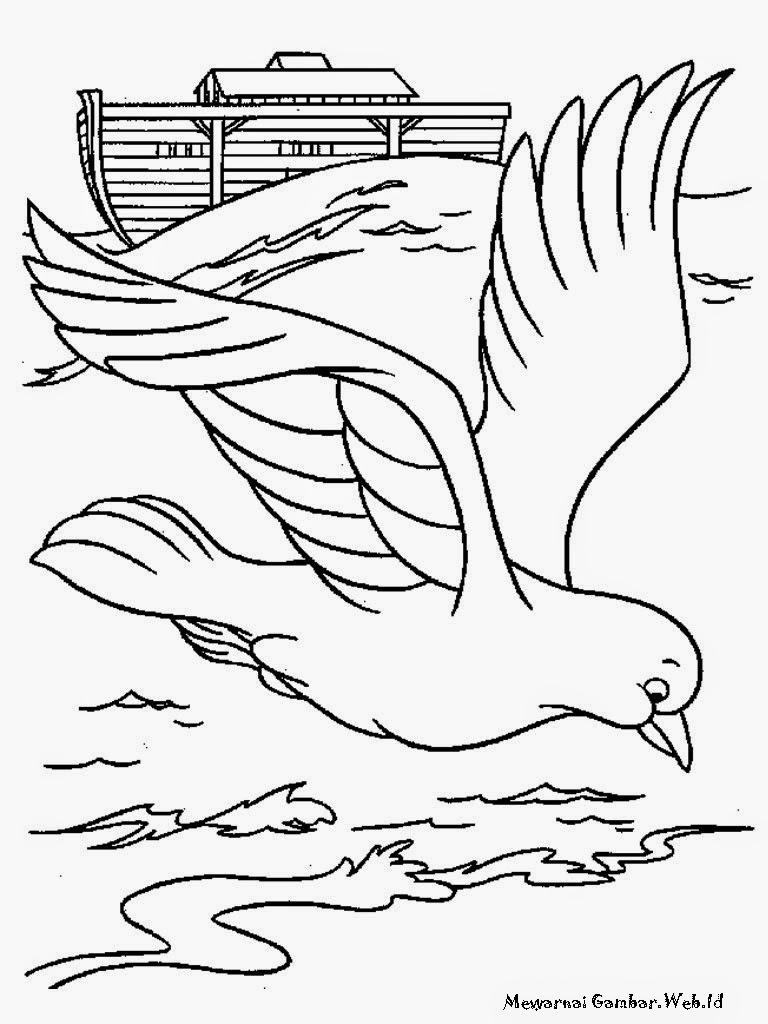 Gambar Burung Merpati Terbang Diatas Danau Toba