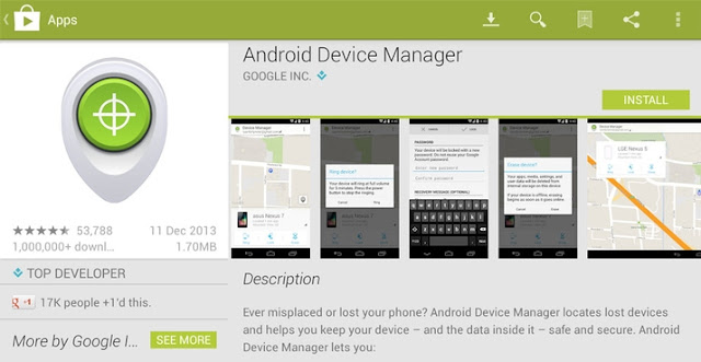 Android Device manager apk google play
