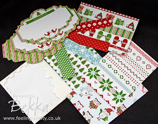 Want to make your own Christmas Cards this year but need some help?  Check out Bekka's Christmas Cards for Non Card Makers - Kits and Classes available at www.feeling-crafty.co.uk