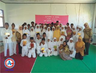 Siswa SMPN-5 Soromandi Ikuti Khataman Massal Al-Quran