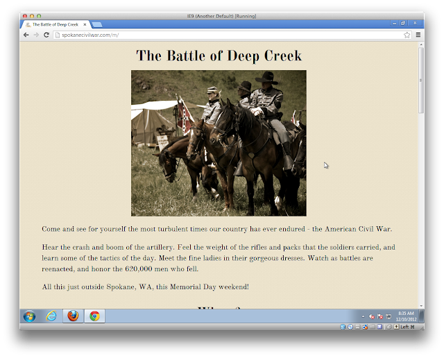 Screenshot showing flexible width image working properly in Chrome