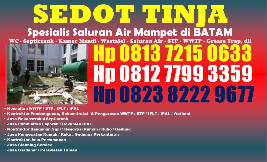 Jasa Sedot WC & Service Saluran Mampet di Batam Hp 081372150633
