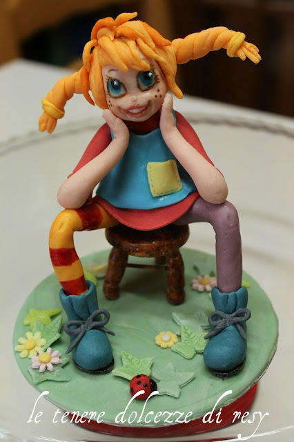 Le tenere dolcezze di resy pippi calzelunghe cake topper