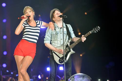 Patrick Stump and Taylor Swift together live