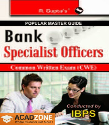 Bank Specialist Officers Common Written Exam CWE Guide