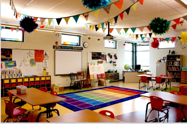 Classroom Decoration Colorful : Preschool wonders classroom decor linky
