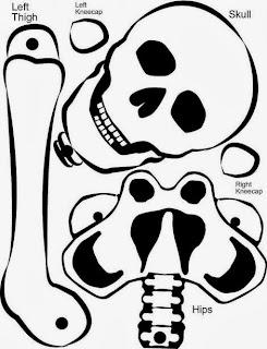 Esqueleto de Papel Para Imprimir