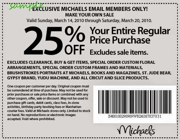 Michaels extra 25 off frames coupon