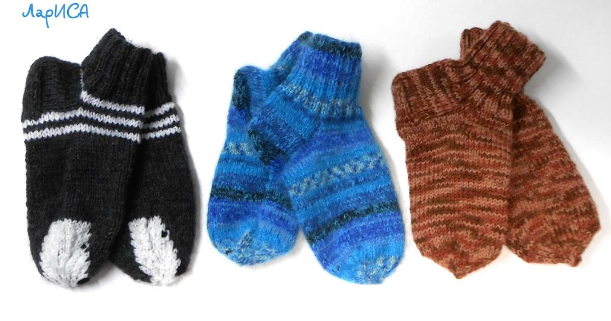 Вязание носков на 2 спицах со швом сбоку