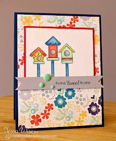 Tweet Talk Bird card by Tessa Wise for Newton's Nook Designs