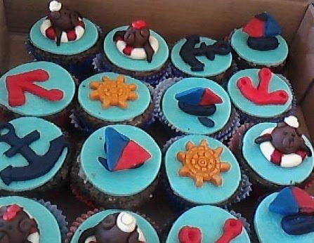 Cupcakes Urso marinheiro