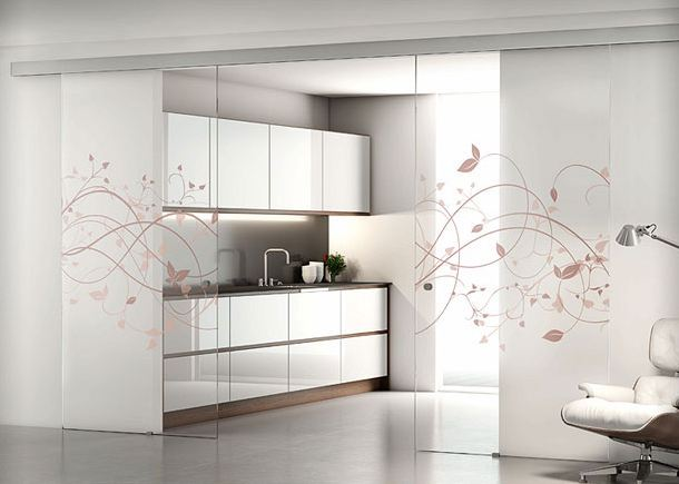 Pladur barcelona puertas correderas de cristal profiltek - Cocinas con puertas de cristal ...