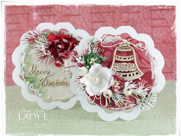 2 Shaped Christmas Cards & Video Tutorial / 2 Kartki Świąteczne o Nietypowym Kształcie i Kurs Video