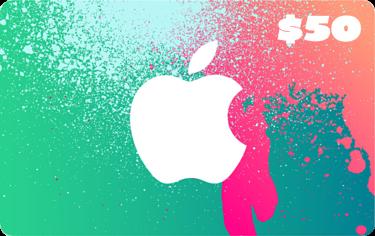 Apple - $50 Itunes Gift Card